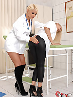 Naughty doctor Lana dominating the brush sexy assistant Brandy