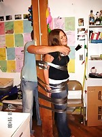 Those teens are bound plus gagged with tape