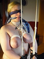 Obese dilettante babe was tied