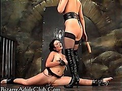 Domme smothers girl in bondage