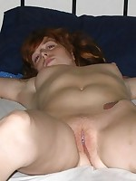 Redhead was tied and fucked in the air face hole