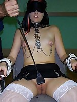 Amateur bondage girls show off for the camera