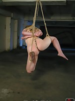 Strict bondage, forced orgasms and an anal hook for saucy blonde