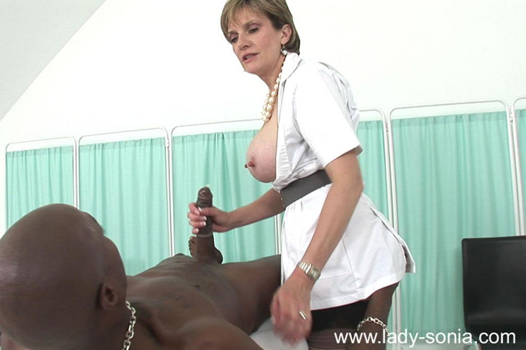 Milf nurses husband from huge 40 k boobs giant nipples auto drip lingerie 1