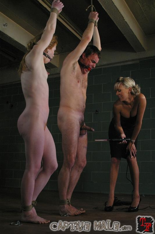 Femdom captive male sample video