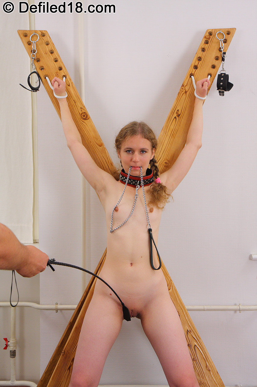 A tied up dani frees herself so she can masturbate 5