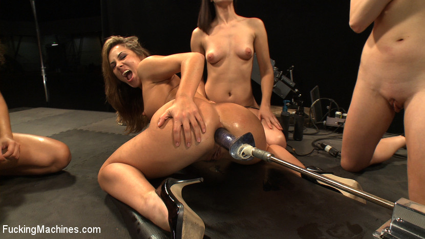 Jennifer gets pussy toyed by a lesbian 5