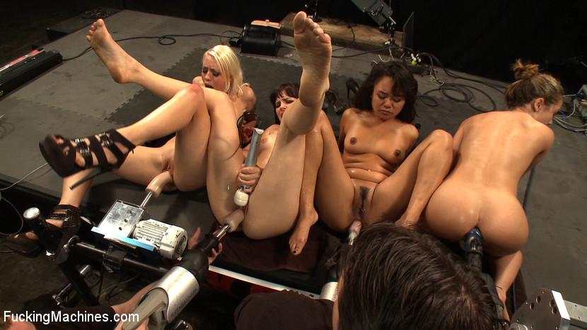 Lesbian Pussy Squirt Orgy