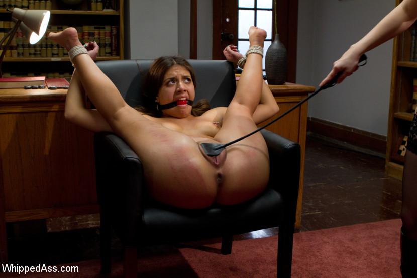 Hogtied and struggling