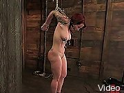 BDSM Movies Kinky redhead bondaged and
