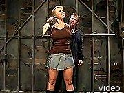 BDSM Movies Luscious blonde bondaged and