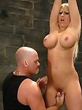 Sexual BDSM Blonde with fat tits bondaged and smutbdsm.com