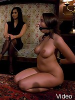 Busty house wife made into obedient slave at spouse training.