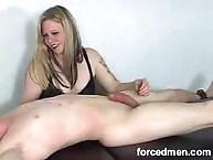Chick doing handjob