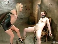 Domme brings her real life slave