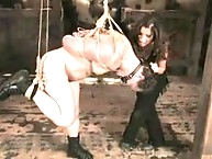 Mistress Sativa Rose play daddy and punishes her bitch boy