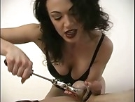 Two lesbian planning to get fuck by tied slave