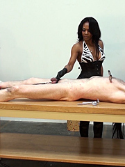 Teased and tormented on the table
