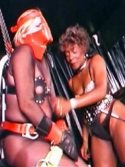Transsexual Josie is suspended with electroshock to nipples and clitty