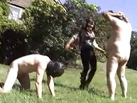 Unconstrained unmasculine dominates with recent purchased slaves