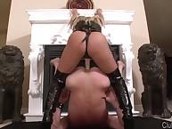 Mature disquiet straponed slave