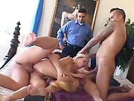 Three jocks and Insatiable Wife Mrs S Barber!