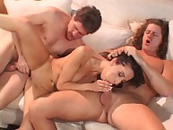 Sexy Wife Monica Breeze Enjoys 2 Cocks!