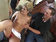 Blonde Wife Alana Thomas gangbanged Hard!