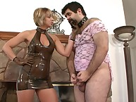 Home dominant-bitch humiliates sissy depending