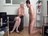Blobde female-dominant having enjoyment with her related