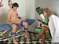 Nurse domina tested a cock