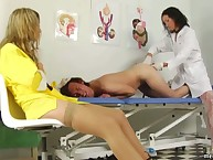 Anal medical test in all directions down in the mouth doctors
