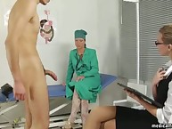 CFNM mistresses meets a recent patient in femdom clinic