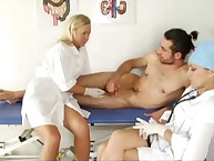 Sex prom cream play in femdom hospital