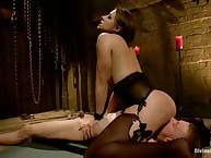 Mistress Chanel Preston tied, whipped and smothered her sub