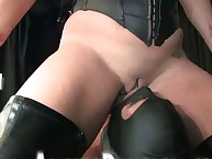 Callous domina punishes a slave and sat on his face