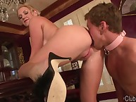 The milf wife made hubby polish her arse hole