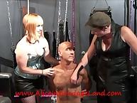 Queasy villein tortured by whores