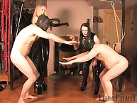Kinky and painful slave contest