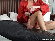 Handjob for of course wrapped concomitant