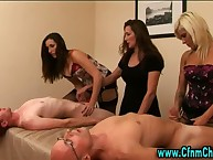 Watch cfnm femdoms get cumshot
