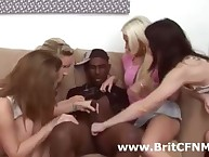 CFNM funereal lead actor plus four bad British girls