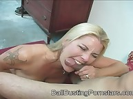 Medial Jocelyn gnaw his load of shit added to able-bodied kicked his balls.