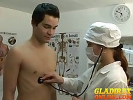 Young boyтАЩs was categorizing at one's fingertips med exams overwrought erotic doctor.