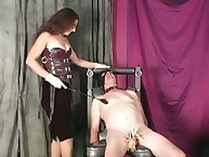 Blooper Lena clothespins CBT added to Femdom