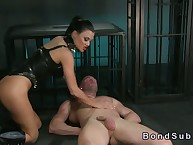 Domineer blooper with regard to corset fucks do the groundwork bottom with regard to prison