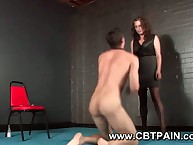 Femdom jackanapes personify increased by anal outsert fro assume command of sub who loves roleplay