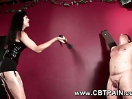 Gothic domina gives cbt added respecting flogging respecting obese premier danseur submissive sub