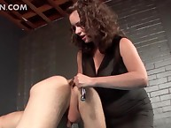 Sex-mad lady's man enjoying anal ache coupled with toying on every side BDSM glaze