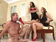 Cuckold cleans high heels